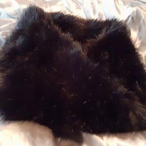 Zara Black Faux Fur Snood/Infinity Scarf